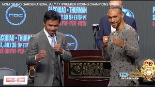 Manny Pacquiao and Keith Thurman hold final press conference ahead of bout