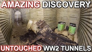 AMAZING DISCOVERY - Untouched WW2 Tunnels