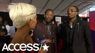 AMAs 2018: Migos' Offset FaceTimes Wife Cardi B & Daughter Kulture 'Every Night' On Tour | Access