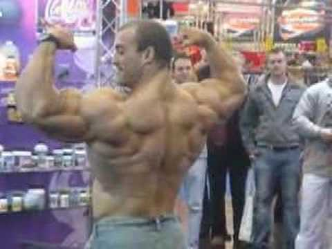 Sexy hot Bodybuilder poses at FIBO 2008