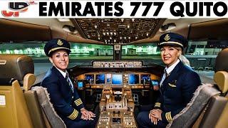 Emirates Women Pilot Boeing 777 into Quito | Cockpit Views