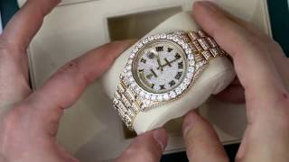 Diamonds Rolex Day Date II President in Yellow Gold