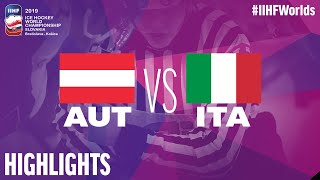 Austria vs. Italy - Game Highlights - #IIHFWorlds 2019