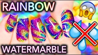 Sparkly Rainbow NO-WATER Watermarble HACK you MUST know!!