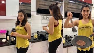 Rashmika Mandanna shares a breakfast cooking video..