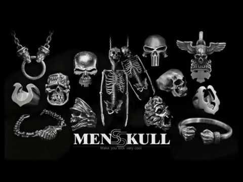 Original handmade 925 silver skull jewelry-MENSSKULL