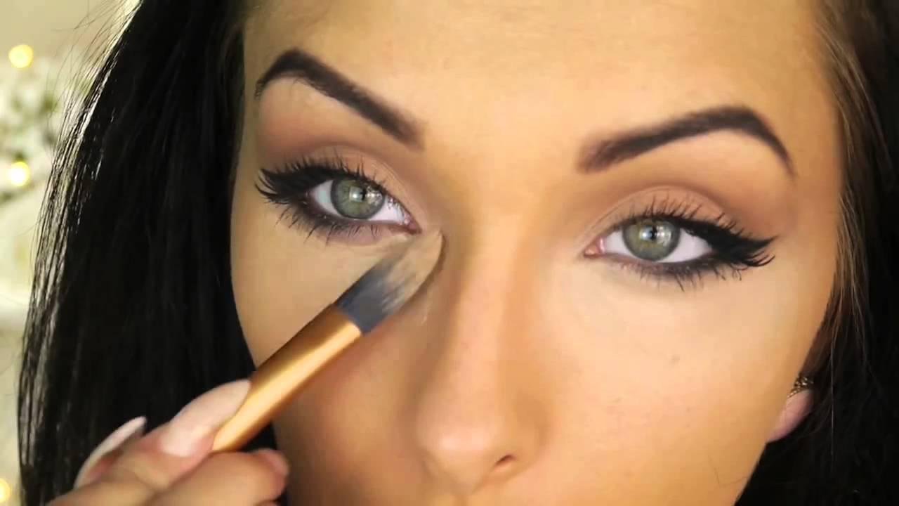 Angelina Jolie Inspired Cat Eye Makeup Tutorial ♡ Round
