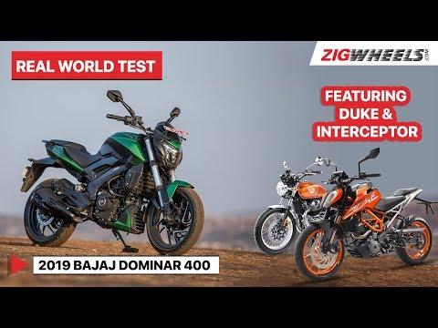 2019 Bajaj Dominar 400 | Real World Test feat. KTM 390 Duke & RE Interceptor 650