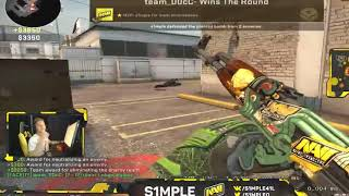 #CSGO - When S1mple streams #2 (Stream highlights, Funny moments , Insane plays ...)