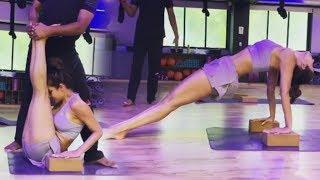 Malaika Arora's UNBELIEVABLE Yoga Exercise & Gym Worko..