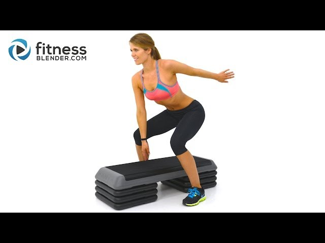 Fat Burning Cardio Step Workout For Butt And Thighs Step Aerobics