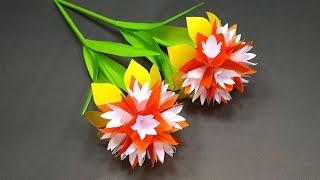 Handcraft: Paper Stick Flower Making | DIY Beautiful Handcraft with Paper | Jarine's Crafty Creation