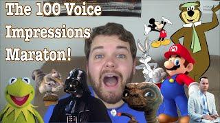 The 100 Voice Impressions Marathon