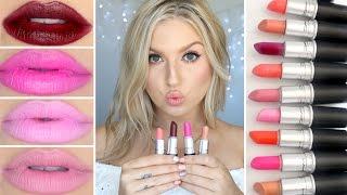 Top 10 MAC Lipsticks & Swatches! ♡ Nudes, Pinks, Oranges, Purples & Darks!