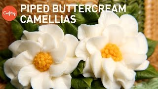 Piping Simple Buttercream Flowers: Camellia | Cake Decorating Tutorial with Christina Ong
