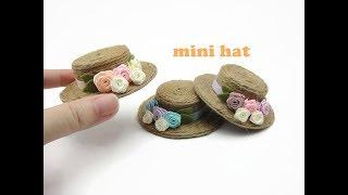 DIY Miniature Doll Mini Straw Hat - Easy!