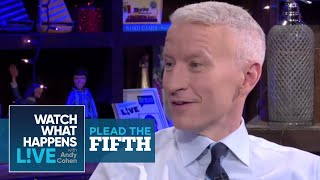 Kelly Ripa with Anderson Cooper   Plead the Fifth   WWHL