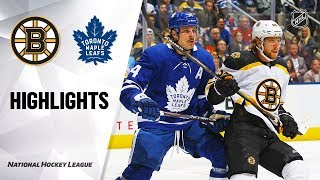 Bruins @ Maple Leafs 10/19/19 Highlights