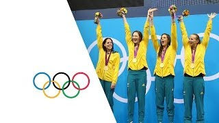 Australia Set New Olympic 4 x 100m Freestyle Record - London 2012 Olympics