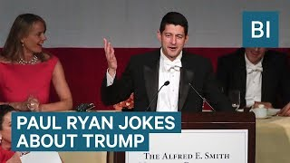 Paul Ryan​ roasts Donald Trump​ about his staff shakeups and Twitter habit