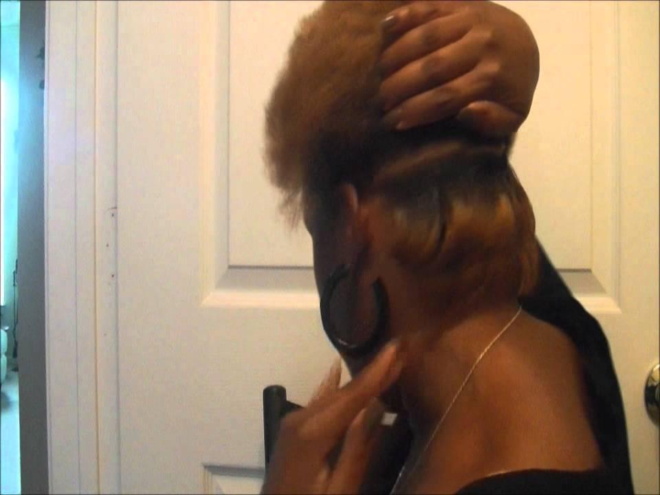 Natural Hair Flat Iron Styles: Natural Hair Blow Out & Flat Iron !