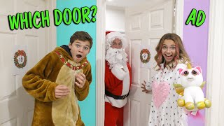 DON'T PICK THE WRONG DOOR! | Holiday Mystery Door Challenge | We Are The Davises
