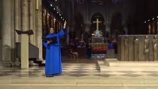24.12.2017 Paris. Christmas Eve Mass at Notre Dame Paris