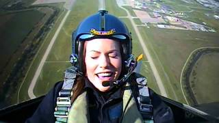 Vanessa Brown Flies with the Blue Angels