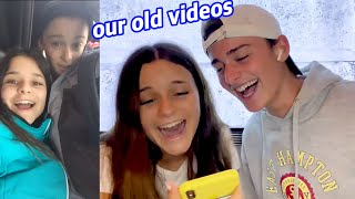 Reacting to Our Old Videos! | Noah Schnapp