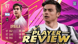 WHAT AM I SEEING?!?😱 97 FUTTIES DYBALA PLAYER REVIEW! SBC PLAYER FIFA 21 ULTIMATE TEAM