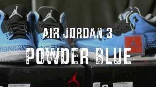 2014 Air Jordan Retro 3 Powder Blue Review + Camp Out + On Feet