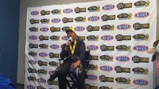 Jack Beckman, winner of the #NHRA Funny Car race at #GatorNationals
