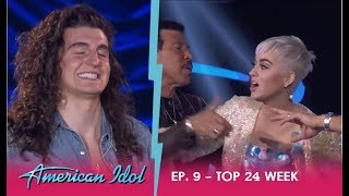 Cade Foehner: KATY PERRY LOSES IT OVER SEXY HOT ROCKERS Performance!!   American Idol 2018