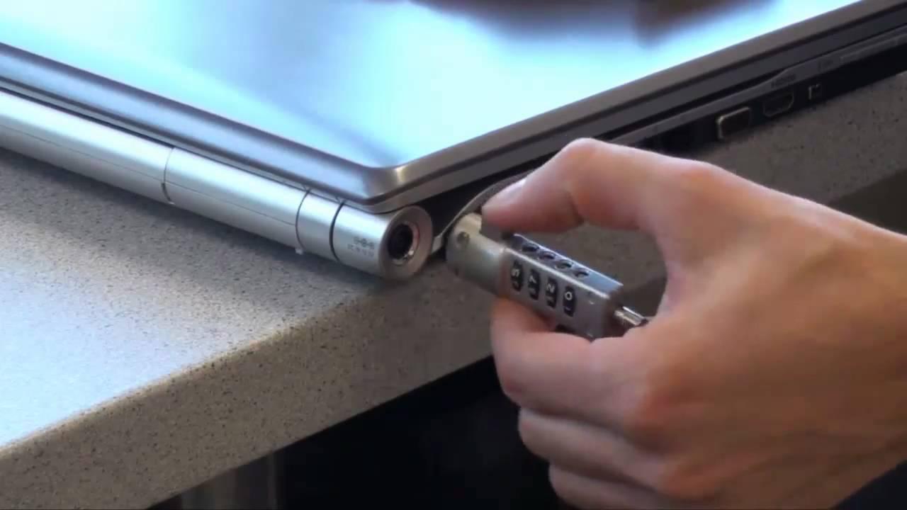 Kensington lock for Notebook / Laptop - YouTube