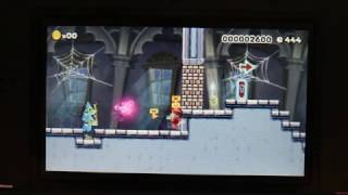 Nintendo Super Mario Maker 3ds Medal Challenge World 19-8  Walkthrough Gameplay part a & b