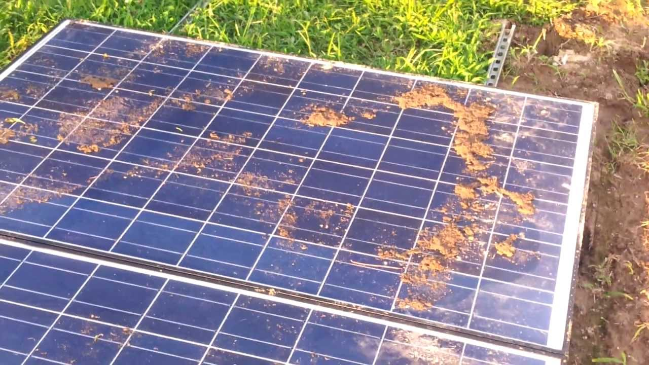 Solar Panel Array Damaged From Storm Part 2 They Survived