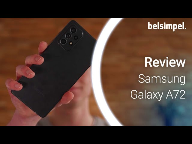 Belsimpel-productvideo voor de Samsung Galaxy A72