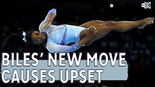 Biles 2 signature moves make history and cause uproar