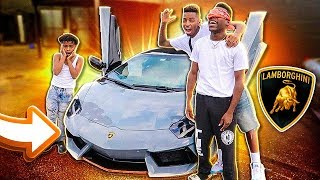 SURPRISING MY BROTHER WITH A LAMBORGHINI (HE CRIED)