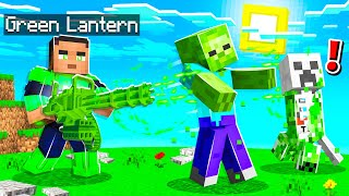 PLAYING as GREEN LANTERN in MINECRAFT!