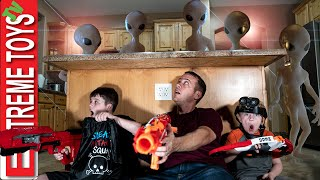 Extra Terrestrial Mystery! Sneak Attack Squad Hunt for the Creatures! Funny Family Videos!
