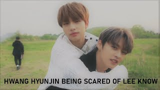 2 Minutes of Hwang Hyunjin Being Scared of Lee Know