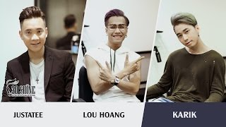 Gặp Justatee - Lou Hoàng - Karik tại salon tóc nam 30Shine