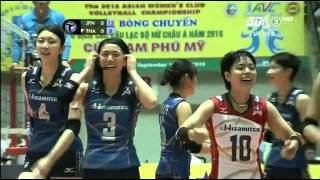 [Final]Bangkok Glass(THA) vs Hisamitsu (Japan):Asian Women'Volleyball Club Championship 2015