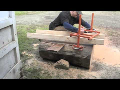 how to cut boards with a chainsaw