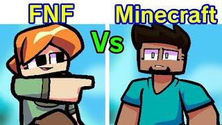 Friday Night Funkin' - Steve + Alex VS Enderman Dad (Minecraft Edition) [FNF MOD/Hard]
