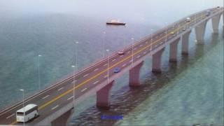 Gió thổi...mạnh gây sai sót tại cầu vượt biển dài nhất Việt Nam!