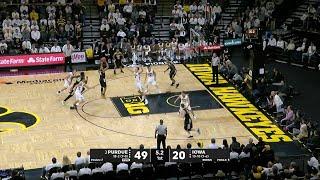 Big Ten Basketball Highlights - Purdue at Iowa