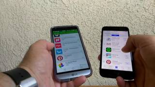 Google play store and the Apple app store comparison september 2016