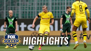 Dortmund defeats Wolfsburg, keeps pressure on league leader FC Bayern | 2020 Bundesliga Highlights